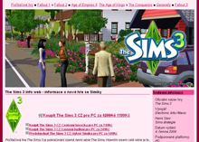 The Sims 3 web
